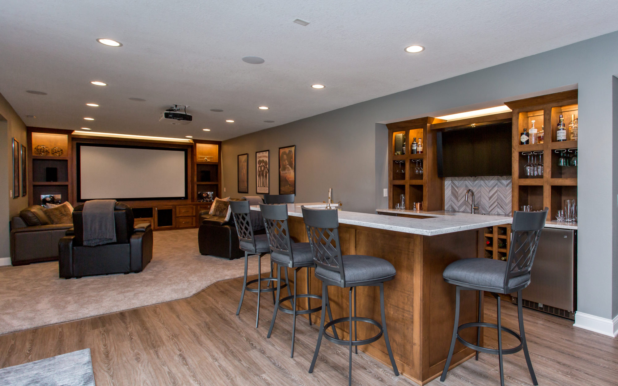 Basement remodeling red house remodeling - Cost to finish basement with bathroom ...